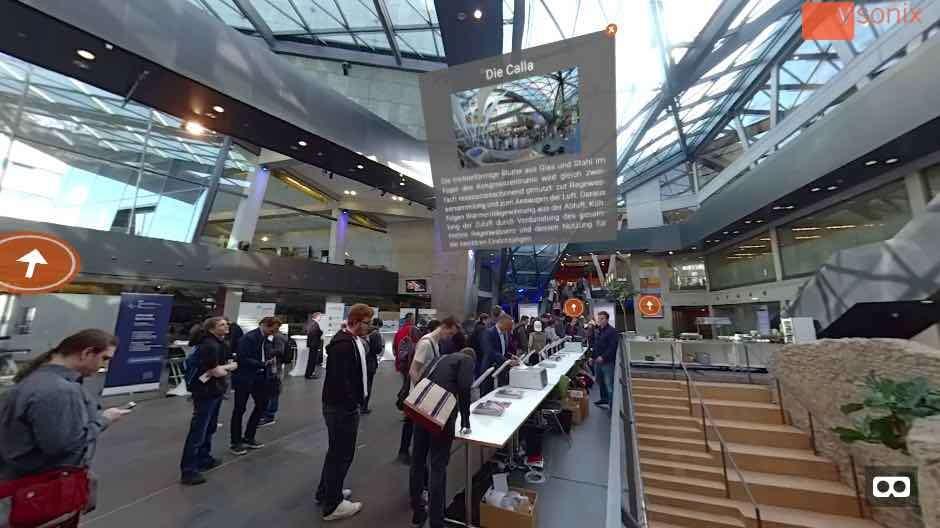 Bildausschnitt des VR-Rundgangs von dem Darmstadtium