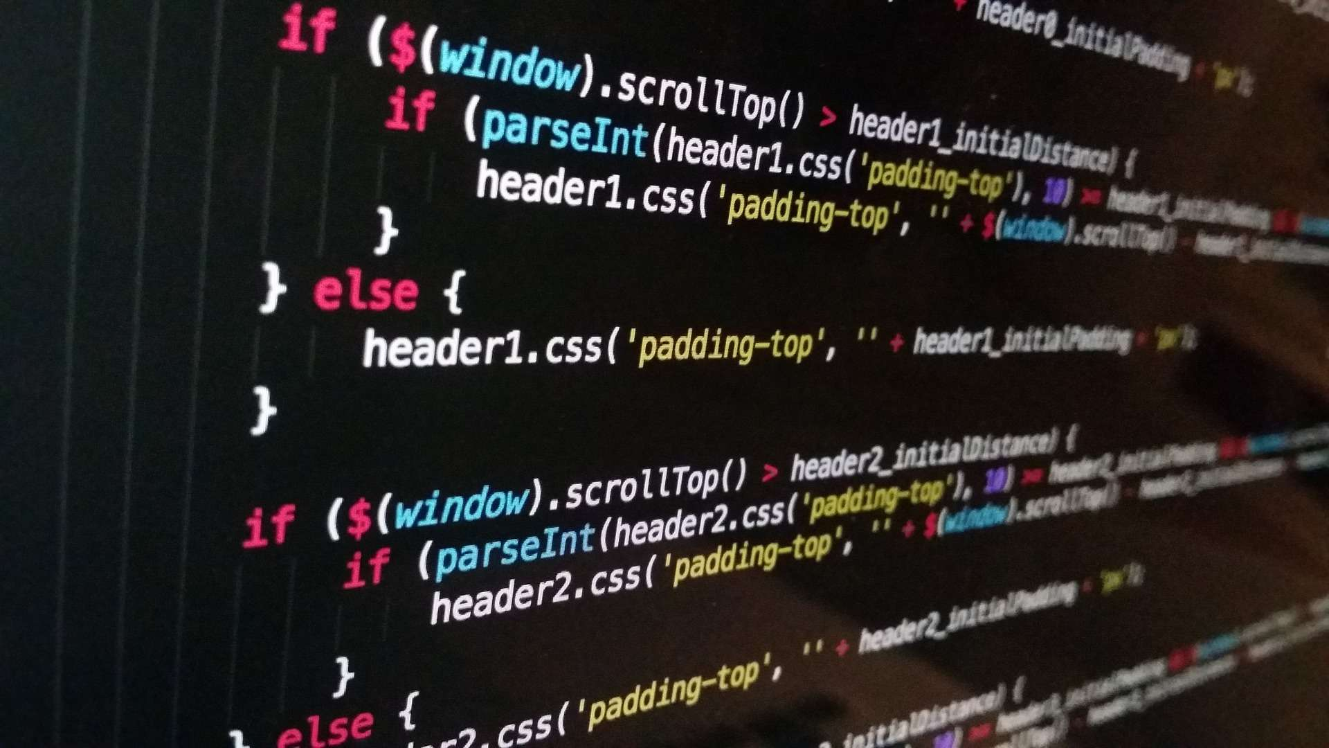 Ausschnitt aus einem Java Script Code